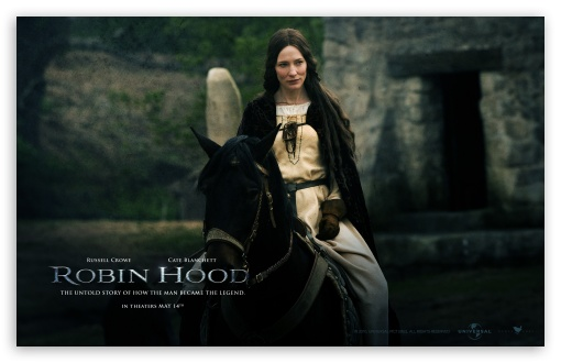 Cate Blanchett as Lady Marian, Robin Hood HD wallpaper for Wide 16:10 5:3 Widescreen WHXGA WQXGA WUXGA WXGA WGA ; Standard 5:4 3:2 Fullscreen QSXGA SXGA DVGA HVGA HQVGA devices ( Apple PowerBook G4 iPhone 4 3G 3GS iPod Touch ) ; Mobile 5:3 3:2 5:4 - WGA DVGA HVGA HQVGA devices ( Apple PowerBook G4 iPhone 4 3G 3GS iPod Touch ) QSXGA SXGA ;