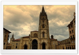 Catedral de San Salvador en Oviedo HD Wide Wallpaper for Widescreen