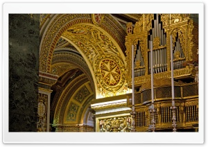 Cathedral Golden Interior HD Wide Wallpaper for Widescreen