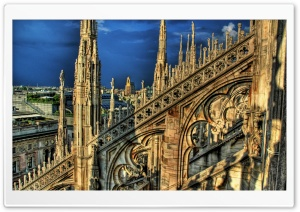 Cathedral In Milan, Italy HD Wide Wallpaper for Widescreen
