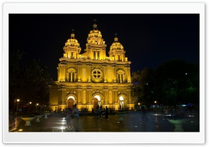 Cathedral Night HD Wide Wallpaper for Widescreen