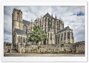 Cathedral of Saint Julian of Le Mans France HD Wide Wallpaper for Widescreen