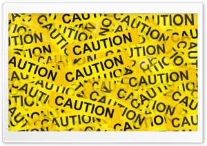 Caution HD Wide Wallpaper for Widescreen