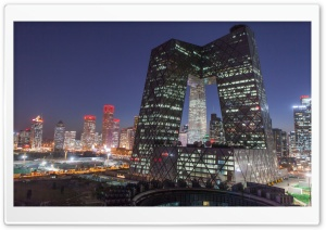 CCTV Building, Beijing, China HD Wide Wallpaper for Widescreen