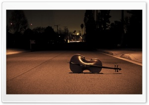 Cello On The Street HD Wide Wallpaper for Widescreen