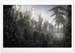 Cemetery Art HD Wide Wallpaper for Widescreen