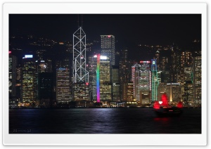 Central District At Night   Hong Kong HD Wide Wallpaper for Widescreen