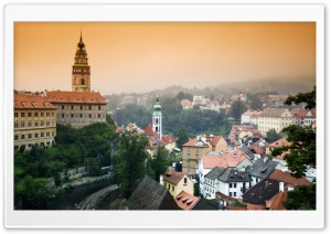Cesky Krumlov Castle Overlooking The Town Of Cesky Krumlov, Czech Republic HD Wide Wallpaper for Widescreen