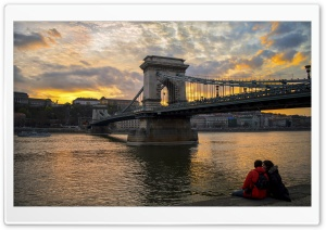 Chain Bridge HD Wide Wallpaper for Widescreen