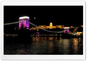 Chain Bridge, Budapest, Hungary HD Wide Wallpaper for Widescreen
