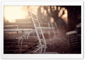 Chairs Bokeh HD Wide Wallpaper for Widescreen