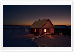 Chalet By Night HD Wide Wallpaper for 4K UHD Widescreen desktop & smartphone