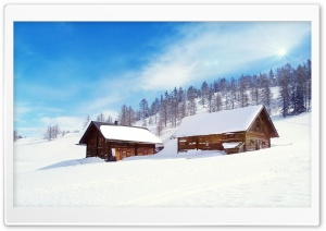 Chalets HD Wide Wallpaper for Widescreen