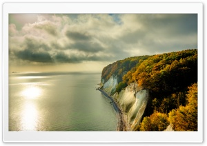 Chalk Cliffs dropping to the Baltic Sea, Rugen Island, Fall Ultra HD Wallpaper for 4K UHD Widescreen desktop, tablet & smartphone