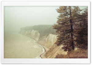 Chalk Coast, Fog, Baltic Sea, Rugen Island Ultra HD Wallpaper for 4K UHD Widescreen desktop, tablet & smartphone