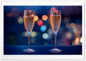 Champagne Glasses HD Wide Wallpaper for Widescreen