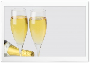 Champagne Glasses New Years Eve Ultra HD Wallpaper for 4K UHD Widescreen desktop, tablet & smartphone