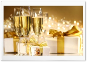 Champagne, New Year HD Wide Wallpaper for 4K UHD Widescreen desktop & smartphone
