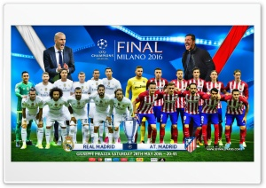 CHAMPIONS LEAGUE FINAL 2016 Ultra HD Wallpaper for 4K UHD Widescreen desktop, tablet & smartphone