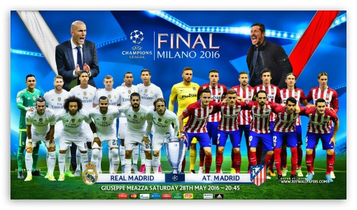 CHAMPIONS LEAGUE FINAL 2016 ❤ 4K UHD Wallpaper for 4K UHD 16:9 Ultra High Definition 2160p 1440p 1080p 900p 720p ; Mobile 16:9 - 2160p 1440p 1080p 900p 720p ;