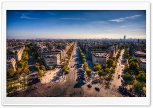 Champs Elysees, Paris, France HD Wide Wallpaper for Widescreen