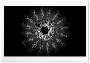 Chandelier Black and White HD Wide Wallpaper for Widescreen