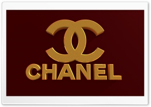 Chanel Logo Bordeaux Red HD Wide Wallpaper for Widescreen