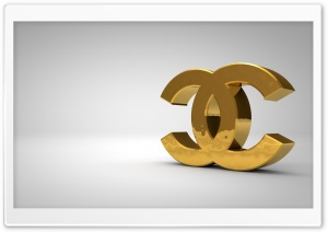 Chanel Logo Golden HD Wide Wallpaper for Widescreen