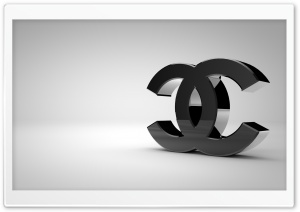 Chanel Logo Shiny Black HD Wide Wallpaper for Widescreen