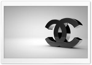 Chanel Logo Shiny Black