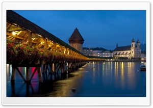 Chapel Bridge, Lucerne, Switzerland HD Wide Wallpaper for Widescreen