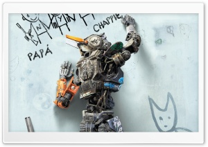 Chappie 2015 Movie HD Wide Wallpaper for 4K UHD Widescreen desktop & smartphone