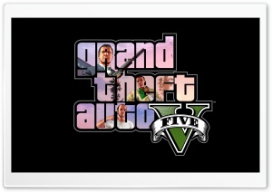 Characters of GTA V HD Wide Wallpaper for Widescreen