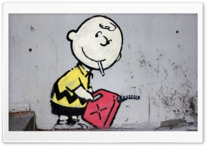 Charlie Brown Peanuts Graffiti HD Wide Wallpaper for 4K UHD Widescreen desktop & smartphone