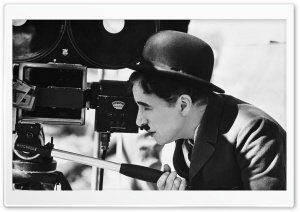 Charlie Chaplin Behind The Camera HD Wide Wallpaper for 4K UHD Widescreen desktop & smartphone
