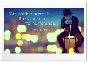 Charlie Chaplin Quote HD Wide Wallpaper for Widescreen