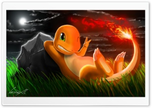 Charmander (Pokemon) HD Wide Wallpaper for 4K UHD Widescreen desktop & smartphone
