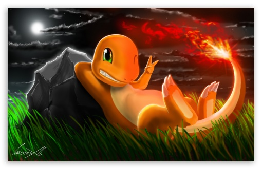 Charmander (Pokemon) HD wallpaper for Wide 16:10 5:3 Widescreen WHXGA WQXGA WUXGA WXGA WGA ; HD 16:9 High Definition WQHD QWXGA 1080p 900p 720p QHD nHD ; Mobile 5:3 16:9 - WGA WQHD QWXGA 1080p 900p 720p QHD nHD ;