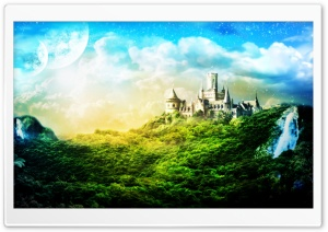 Charming Castle HD Wide Wallpaper for Widescreen