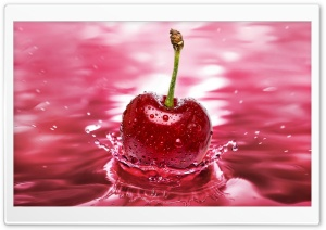 Cherry Water HD Wide Wallpaper for Widescreen