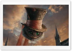 Cheshire Cat HD Wide Wallpaper for Widescreen