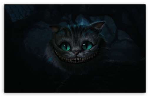 Cheshire Cat, Alice In Wonderland HD wallpaper for Standard 4:3 5:4 Fullscreen UXGA XGA SVGA QSXGA SXGA ; Wide 16:10 5:3 Widescreen WHXGA WQXGA WUXGA WXGA WGA ; HD 16:9 High Definition WQHD QWXGA 1080p 900p 720p QHD nHD ; Other 3:2 DVGA HVGA HQVGA devices ( Apple PowerBook G4 iPhone 4 3G 3GS iPod Touch ) ; Mobile VGA WVGA iPhone iPad PSP Phone - VGA QVGA Smartphone ( PocketPC GPS iPod Zune BlackBerry HTC Samsung LG Nokia Eten Asus ) WVGA WQVGA Smartphone ( HTC Samsung Sony Ericsson LG Vertu MIO ) HVGA Smartphone ( Apple iPhone iPod BlackBerry HTC Samsung Nokia ) Sony PSP Zune HD Zen ; Tablet 2 Android ;