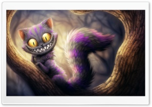 Cheshire Cat, Alice's Adventures in Wonderland HD Wide Wallpaper for Widescreen