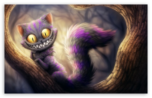 Cheshire Cat, Alice's Adventures in Wonderland HD wallpaper for Wide 16:10 5:3 Widescreen WHXGA WQXGA WUXGA WXGA WGA ; HD 16:9 High Definition WQHD QWXGA 1080p 900p 720p QHD nHD ; Standard 4:3 5:4 3:2 Fullscreen UXGA XGA SVGA QSXGA SXGA DVGA HVGA HQVGA devices ( Apple PowerBook G4 iPhone 4 3G 3GS iPod Touch ) ; Tablet 1:1 ; iPad 1/2/Mini ; Mobile 4:3 5:3 3:2 16:9 5:4 - UXGA XGA SVGA WGA DVGA HVGA HQVGA devices ( Apple PowerBook G4 iPhone 4 3G 3GS iPod Touch ) WQHD QWXGA 1080p 900p 720p QHD nHD QSXGA SXGA ;