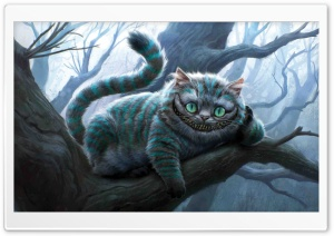 Cheshire Cat Artwork, Alice In Wonderland HD Wide Wallpaper for Widescreen