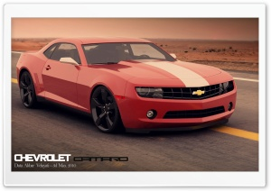 Chevrolet Camaro 3D Max HD Wide Wallpaper for Widescreen