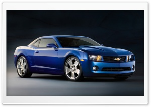 Chevrolet Camaro Blue HD Wide Wallpaper for Widescreen