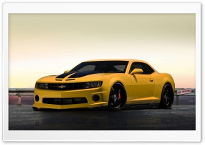 Chevrolet Camaro Yellow HD Wide Wallpaper for Widescreen