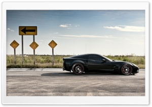 Chevrolet Corvette On Road HD Wide Wallpaper for 4K UHD Widescreen desktop & smartphone