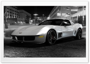 Chevrolet Corvette Stingray Black And White HD Wide Wallpaper for Widescreen